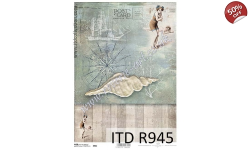 ITD A4 rice paper - R945 Sea side