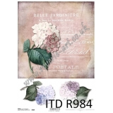 ITD A4 rice paper - R984 Belle Jardini..