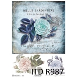 ITD A4 rice paper - R987 Belle Jardini..