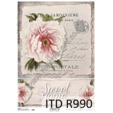ITD A4 rice paper - R990 Belle Jardini..