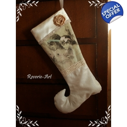 Christmas stocking with ange..