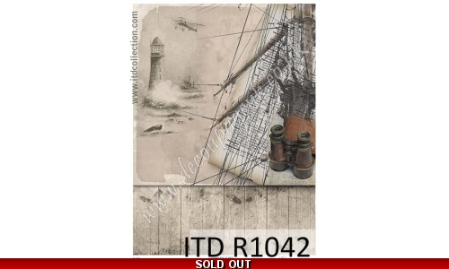 ITD A4 rice paper - R1042 Sea, ship
