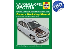 Haynes Manual 4887 - Vauxhall/Opel Vectra Oct 05 - Oct 08 55 to 58