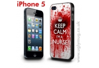 IPHONE 5 CASE - KEEP CALM I'M A NURSE ..