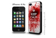 KEEP CALM AND KILL ZOMBIES - IPHONE 4..