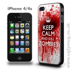 KEEP CALM AND KILL ZOMBIES -  IPHONE 4/S CASE