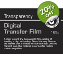 DIGITAL TRANSFER FILM 165p A/4 10-shts