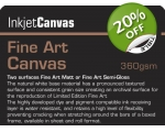 FINE ART MATT CANVAS 360gsm A/4 10-shts