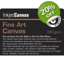 FINE ART SEMI GLOSS CANVAS 360gsm A/4..