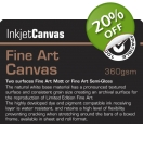 FINE ART SEMI GLOSS CANVAS 360gsm A/3..