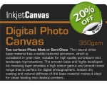 PHOTO SEMI-GLOSS CANVAS 350gsm A/4 10-shts