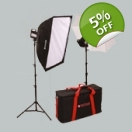 Tungsten Softbox & Umbrella Kit LIT102