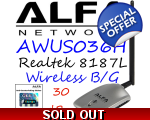 CLEARANCE ITEM AWUS036H Wirelesss USB Network ad..