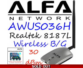 AWUS036H 1000mw Wirelesss USB Network adapter Alfa Network