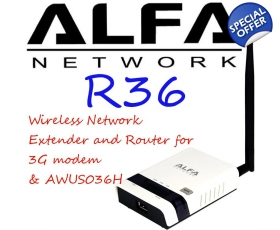 Alfa R36 Wireless N Network Router  Range Extender