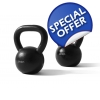 A Pair of 28kg Cast Iron Kettlebells w..