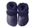Slinkskin - Wool - Navy - baby shoes