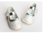 Sparkle - silver - toddler shoes