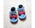 Fire Engine - softies - baby shoes