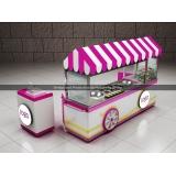 Double Pan Ice Cream Rolls Cart Hot Pink