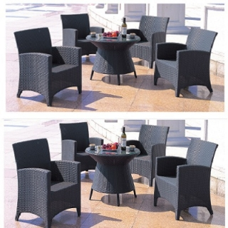 Set Rattan 1 Table 4 Ch..