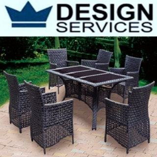 Set Rattan 1 Table 6 Ch..