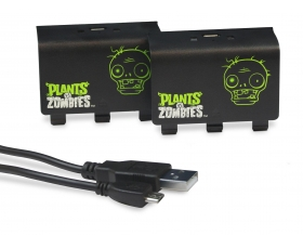 Plants vs Zombies Play and Charge Battery Packs - New - Xbox One