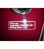 Husqvarna oil mix tank decal