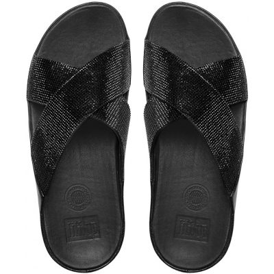 Fitflop Crystall Slide Black