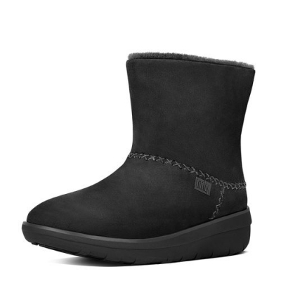 Fitflop Mukluk Shorty II Black Velours