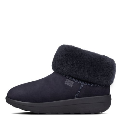 Fitflop Mukluk Shorty II Navy Velours