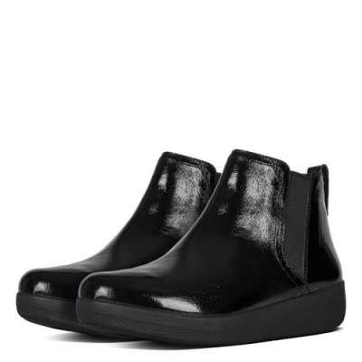 Fitflop Superchelsea Boots Black Lackleder