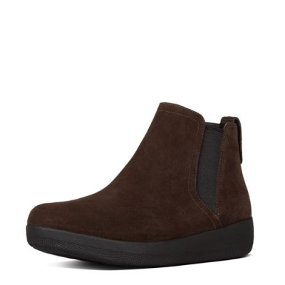 Fitflop Superchelsea Boots Chocolate Nubuk