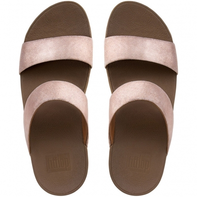 Fitflop Shimmy Suede Slide Rose Gold