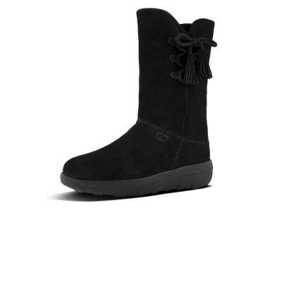 Fitflop Mukluk Hight boot with tassels black