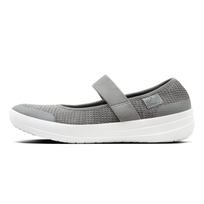 Fitflop Überknit Mary Janes Charcoal Metallic
