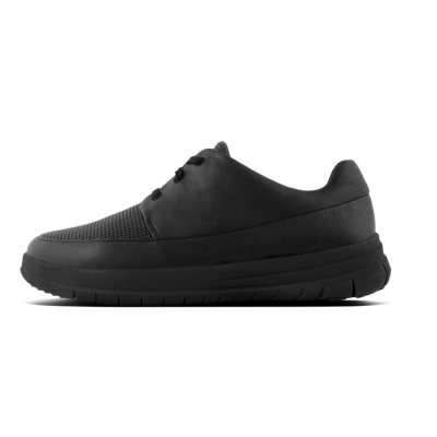 Fitflop Sporty-Pop perforiertes Leder All Black