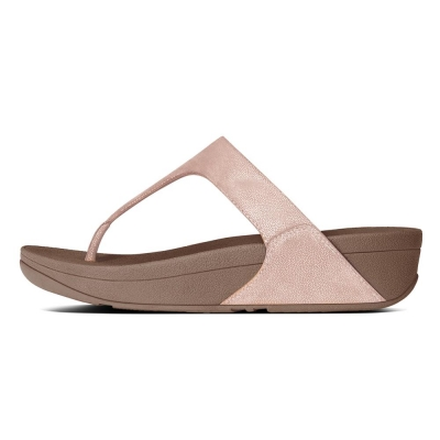 Fitflop Shimmy Suede Rose Gold
