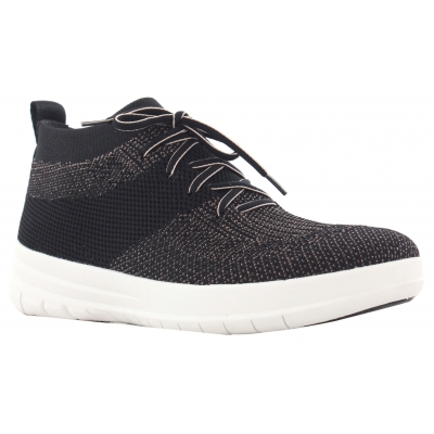 Fitflop F-Sporty Sneaker High Uberknit Black/Bronze