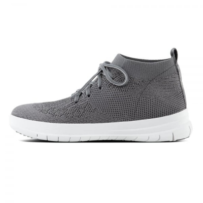 Fitflop F-Sporty Sneaker High Uberknit Charcoal/Metallic