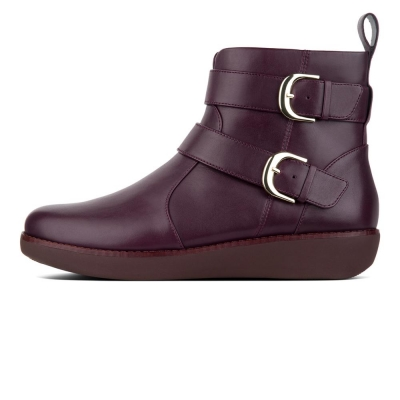Fitflop Laila Double Buckle Berry Patent