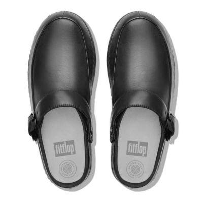 Fitflop Gogh Pro Superlight Clogs Patent Black