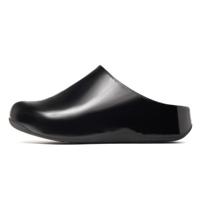 Fitflop Shuv Clog Patent Black