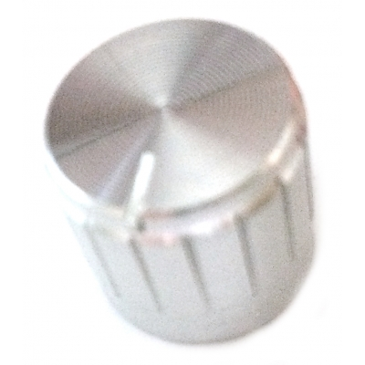 17mm Knurled Aluminium Knobs - Silver