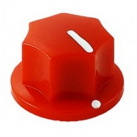 20mm MXR-style fluted knob - Red