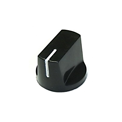Davies 1510-Style Knob, set screw fitting - Black
