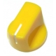 Davies 1510-Style Knob, set screw fitting -Yellow