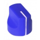 16mm mini Davies 1510-style knob - Blue