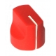 16mm mini Davies 1510-style knob - Red