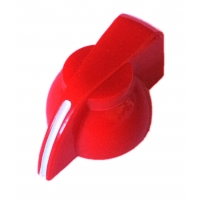 Chicken Head Knob - Red Plastic